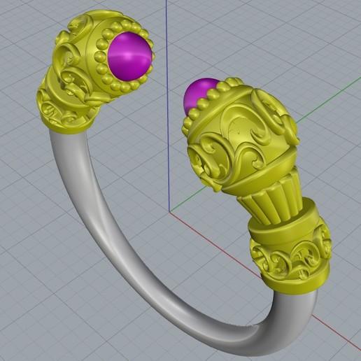 Download 3D printer model fancy dress ring, regardtabotes