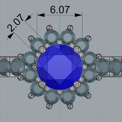 Download 3D printing designs Fancy cluster ring, regardtabotes