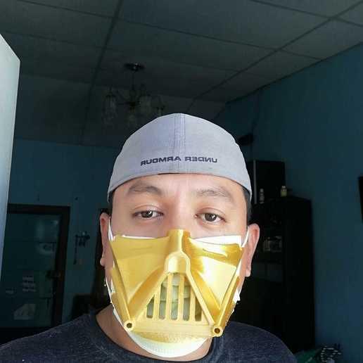 Télécharger STL gratuit Couverture du masque de Dark Vador., year1984wee