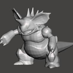 nidoking.jpg Download STL file Nidoking Pokemon • 3D print model, Lucas_Kranz
