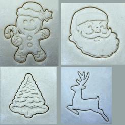 eccheccazzoperòò1.png Download STL file Christmas cookie cutters 12 pack • 3D printer object, Lucas_Kranz