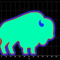 bison cc.jpg Download STL file Buffalo cookie cutter • Model to 3D print, Lucas_Kranz