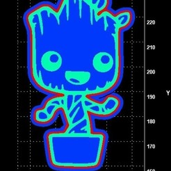 baby groot cc.jpg Download STL file Baby Groot cookie cutter • 3D printable object, Lucas_Kranz