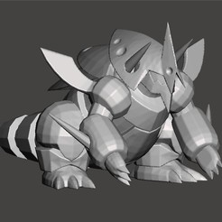 maggron.jpg Download STL file Lairon Aggron mega Aggron pokemon • Model to 3D print, Lucas_Kranz