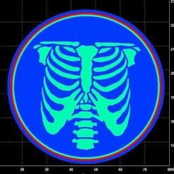 ribcage cc.jpg Download STL file Rib cage skeleton cookie cutter  • 3D printer template, Lucas_Kranz
