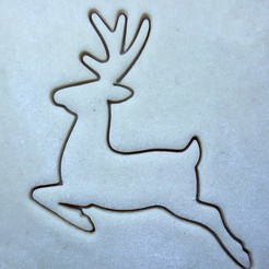 20201207_19212411.jpg Download STL file Christmas reindeer cookie cutter • 3D printer model, Lucas_Kranz