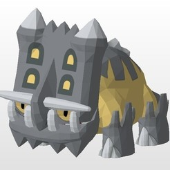 bastiodon.jpg Download STL file Pokemon 30 different models • Object to 3D print, Lucas_Kranz
