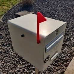 Picture (1).jpg Download STL file Flag Mailbox • 3D printer design, Jamesweb54
