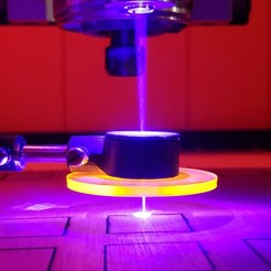 Acclaim Crafts Air Assist Nozzle Shielded In Action L.jpg Download free STL file Universal Air Assist Nozzle for Laser Cutting by Acclaim Crafts • Template to 3D print, AcclaimCrafts