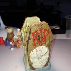Imprimir en 3D gratis Lámpara de la tumba de Halloween, SgtPepper