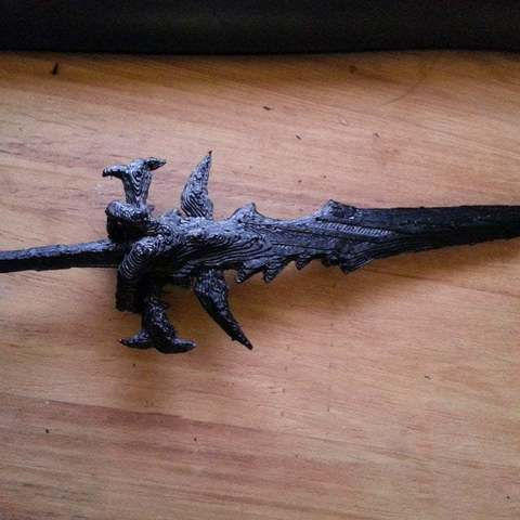 Descargar STL gratis Frostmourne - Espada de Arthas - World of Warcraft, Brenlen