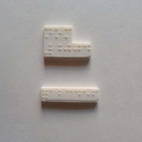 Download free 3D printing templates Braille - Whole Alphabet, Brenlen