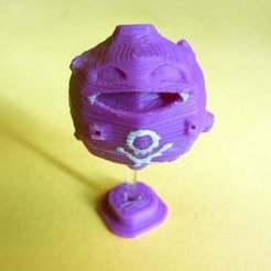 Imprimir en 3D gratis Koffing - Modelo de piezas impresas, Brenlen