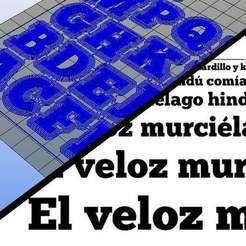 Télécharger fichier impression 3D gratuit Typo - Police Chunkfive 3D, Brenlen