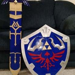 Download free 3D printer designs Zelda Master Sword v2 Scabbard, Brenlen