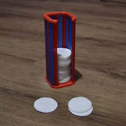 Download free 3D printer model Cotton Pads Container, LarryBerstilta