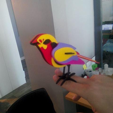 Télécharger STL gratuit oiseau doux, LarryBerstilta