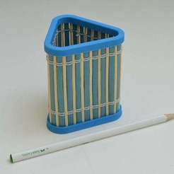 Download free STL files Bamboo Pencil Holder II., LarryBerstilta
