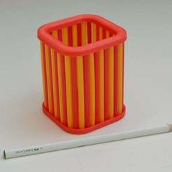 Download free 3D printing templates Straw Pencil Holder, LarryBerstilta