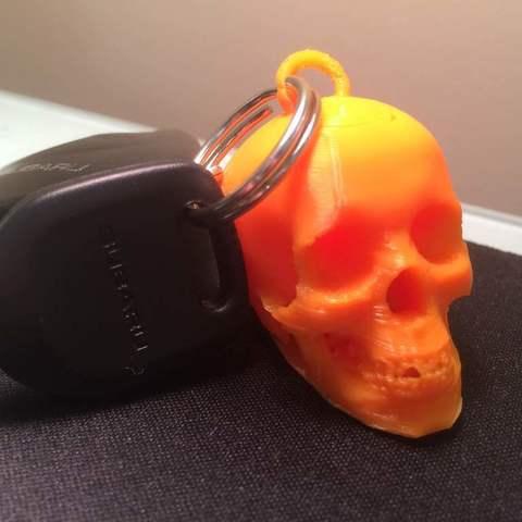 Download free 3D printer designs Skull Keychain, LarryBerstilta