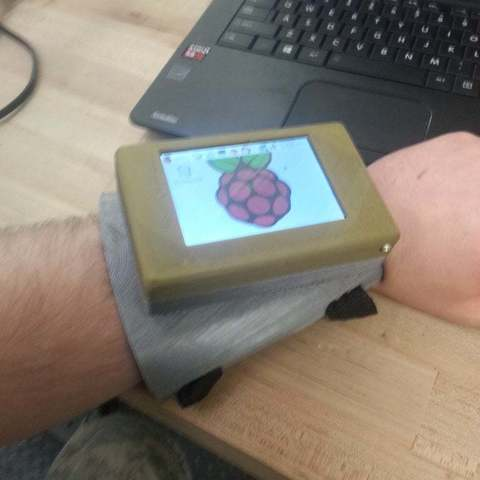 Download free STL Wrist mounted Touch Pi: Portable Raspberry Pi A+, LarryBerstilta