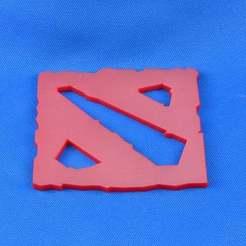 Download free 3D printing designs DOTA 2 Logo, LarryBerstilta