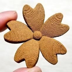 Descargar Modelos 3D para imprimir gratis Imán (flor de Sakura), nature3d_