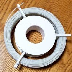 Imprimir en 3D gratis Bobina de filamento simple (para bobina de 120mm de diámetro interior), nature3d_