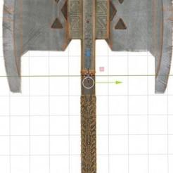 hacha1.JPG Download STL file Gimli axe • 3D printable design, enriquelsanfer