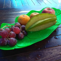 Download free 3D printer files Leaves floating on water (Fruit plate/bowl), 3D-Pandhadha