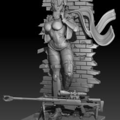 Download 3D print files sinon, anime, sword art online, jaybattini