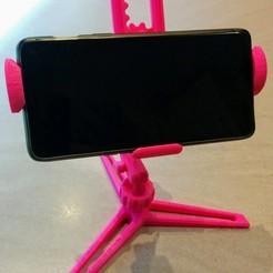 IMG_20190902_223133.jpg Télécharger fichier STL Support de téléphone ajustable • Modèle à imprimer en 3D, Jastrzab