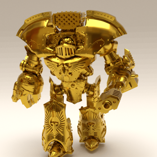 Download free 3D printing templates Golden Tower of Power Mausoleum Walker, OrionRS