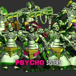 Psycho-Sisters.jpg Download STL file Cutiecron Psycho Sisters • 3D printable model, HappyDuck3D