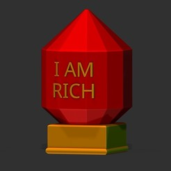 Download STL files I AM RICH Commemorative Statue, OrionRS