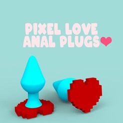 Download free 3D printer templates Pixel Love ❤️, EternalDesires3D