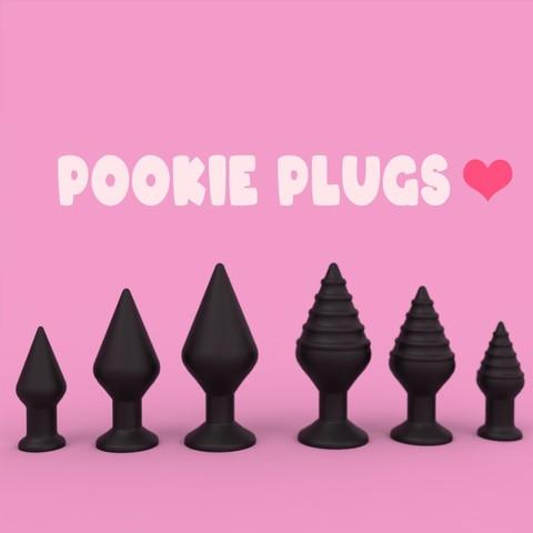 Download 3D printing templates Pookie Plugs (six models) 😊, EternalDesires3D