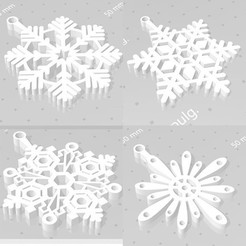 coposss1.jpg Download STL file snowflakes • 3D print design, cristoferespinozat