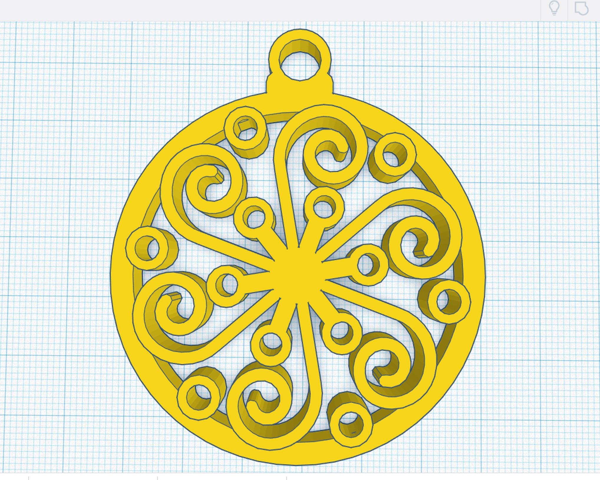 2.jpg Download OBJ file Ornamental Sphere • 3D printable design, cristoferespinozat