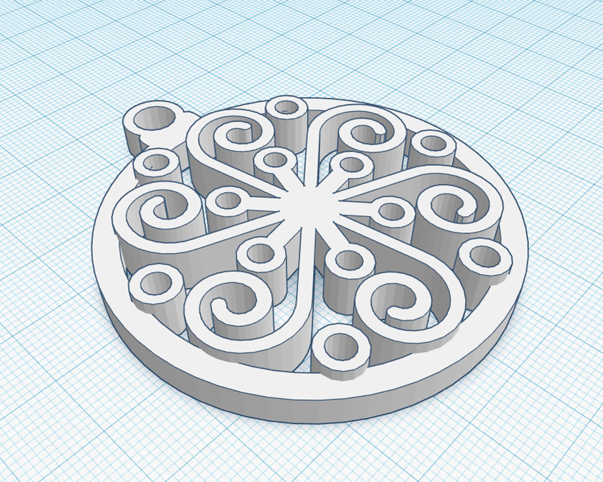 4.jpg Download OBJ file Ornamental Sphere • 3D printable design, cristoferespinozat