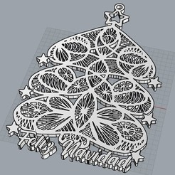 FELIZ NAVIDAD.jpg Download STL file MERRY CHRISTMAS TREE :3 • Template to 3D print, cristoferespinozat
