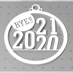 20-1.jpg Download STL file BYE! 2020 • 3D print design, cristoferespinozat