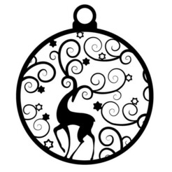 ciervo ornamento-01.jpg Download STL file Christmas ball, deer with ornaments • 3D printable design, cristoferespinozat