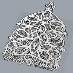 MERRY CHRISTMAS.jpg Download STL file MERRY CHRISTMAS TREE: 3 • Template to 3D print, cristoferespinozat