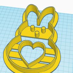 Download 3D printer designs rabbit, bunny cookie cutter-/cortador de galletas-conejo, conejito , franckhpl