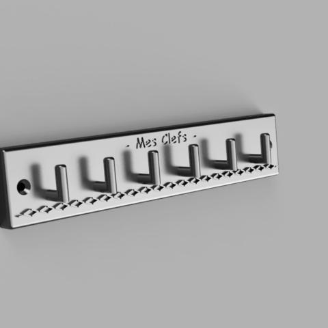 Download free 3D printer designs Wall key ring, Nonoar2nimes