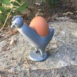Download free 3D printer templates Egg cup in hen, Nonoar2nimes