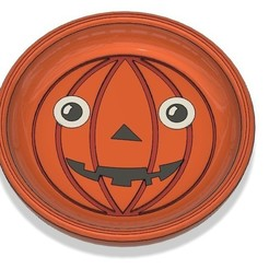 Download free 3D printing templates Coaster Pumpkin (multicolor version), 3dprintingspirits
