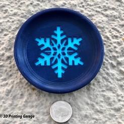 Imprimir en 3D gratis Posavasos de invierno (Copo de nieve), 3dprintingspirits