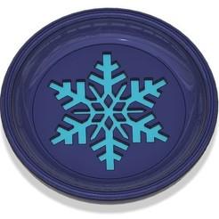 Download free STL Coaster Winter (Snowflake), 3dprintingspirits